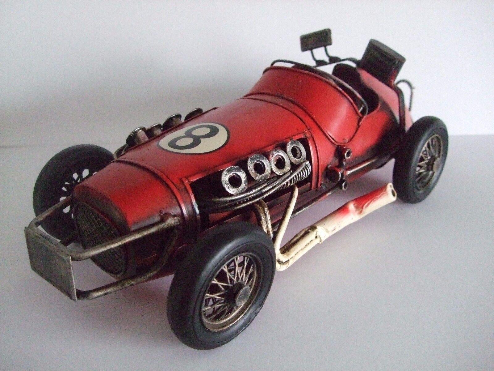 Rosso Auto da Corsa Modello PIATTO IN STAGNO DIPINTO A MANO/Rosso/ornamento/Auto Sportiva Regalo