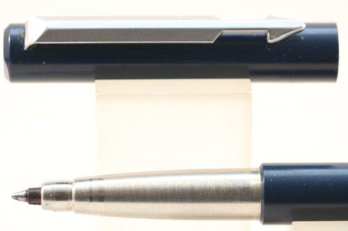 Dark Blue with Chrome Trim 1987 Vintage Parker Vector Rollerball Pen