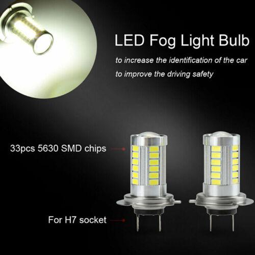 1 Stück H7 5630SMD Weiß 660LM 33 LED-Licht Auto Nebelscheinwerfer Driving LamYE