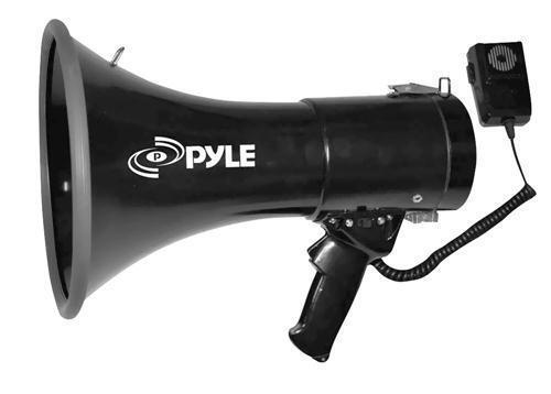 New Pyle PMP53IN 50Watt Professional Megaphone W// Siren /& Aux-Input For MP3