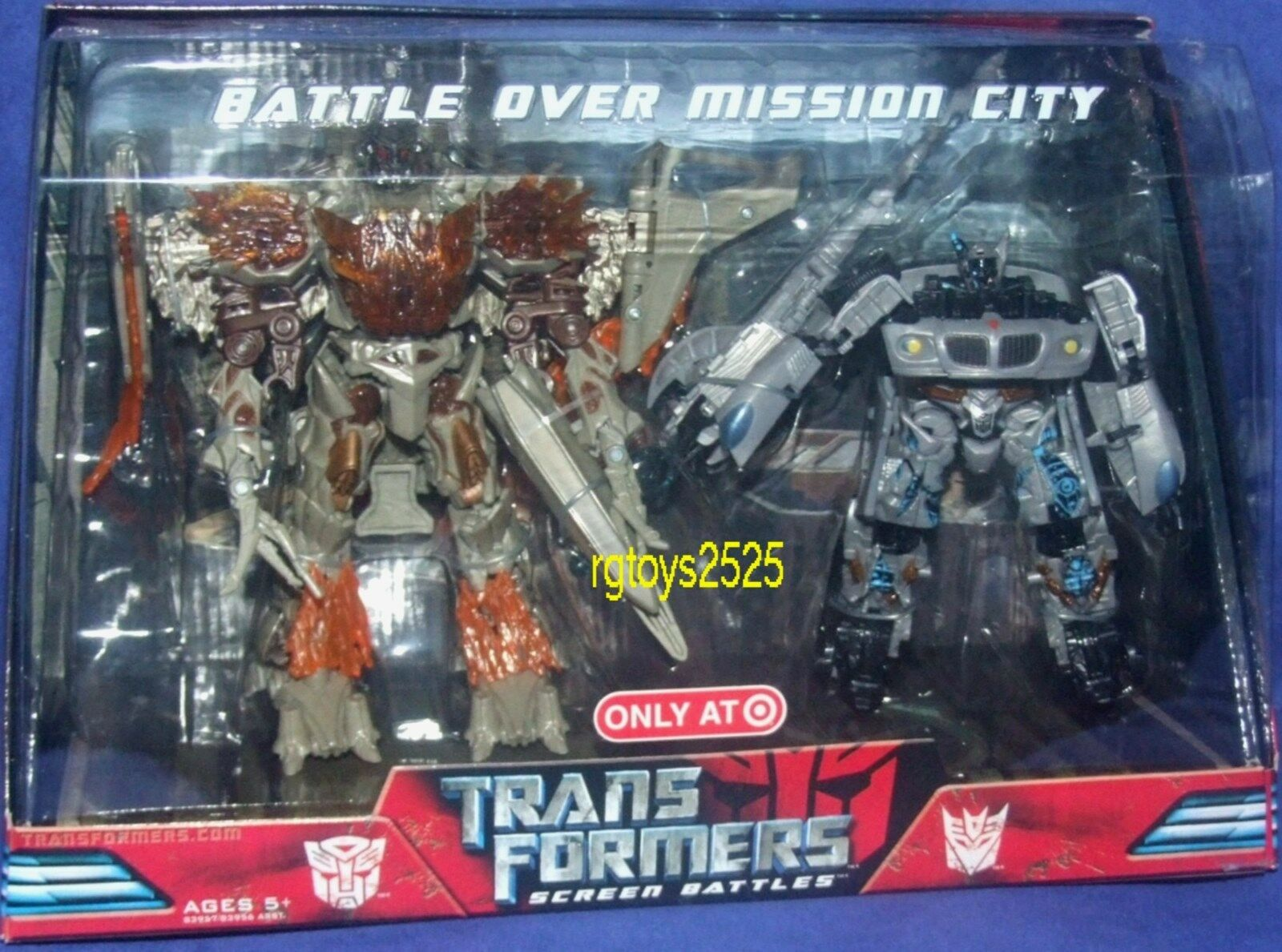 Transformers Target Exclusive Movie 8  Megatron vs Jazz Battle over Mission City