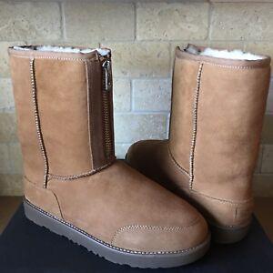 d7f24c0f755 Details about UGG Classic Short Phillip Lim 3.1 Chestnut Suede Fur Zip  Boots Size 11 Mens