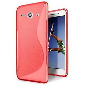 Handy-Huelle-Huawei-Y530-Silikon-Case-Ultra-Slim-Cover-Schutz-Huelle-Tasche-Rot