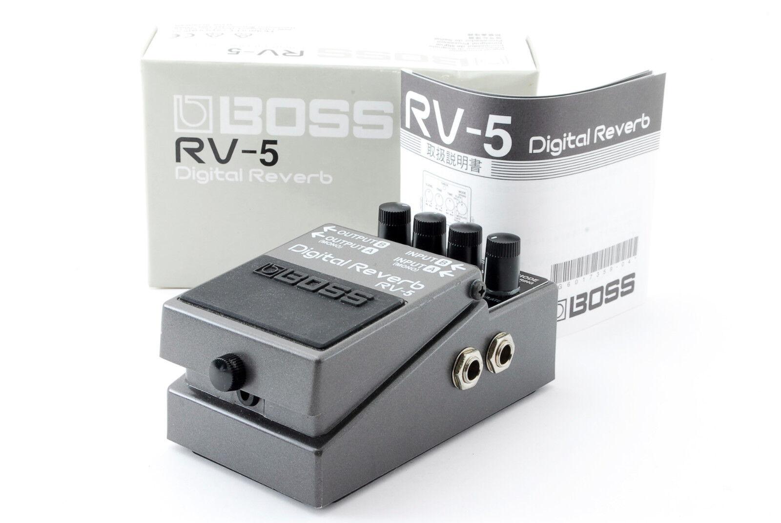 BOSS RV-5 Digital Reverb w Box,Manual  Effect Pedal Used In Japan A600