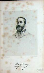 Original-Old-Antique-Print-Baily-039-S-Portrait-1862-Anglesey-Man-Sportsman-19th