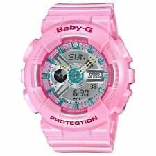 Casio BA110CA-4A Lady's Ana-Digi Grey Dial Pink Strap Alarm Watch