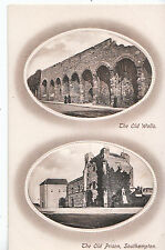 Hampshire Postcard - The Old Walls and The Old Prison - Southampton    DP500