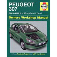 HAYNES MANUAL Peugeot 307 1.4 1.6 2.0 Petrol Diesel 2001-08 (Y To 58 Reg)