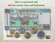 Postcard: Sudan Circulating Coins and Currency (Banknote) 2013