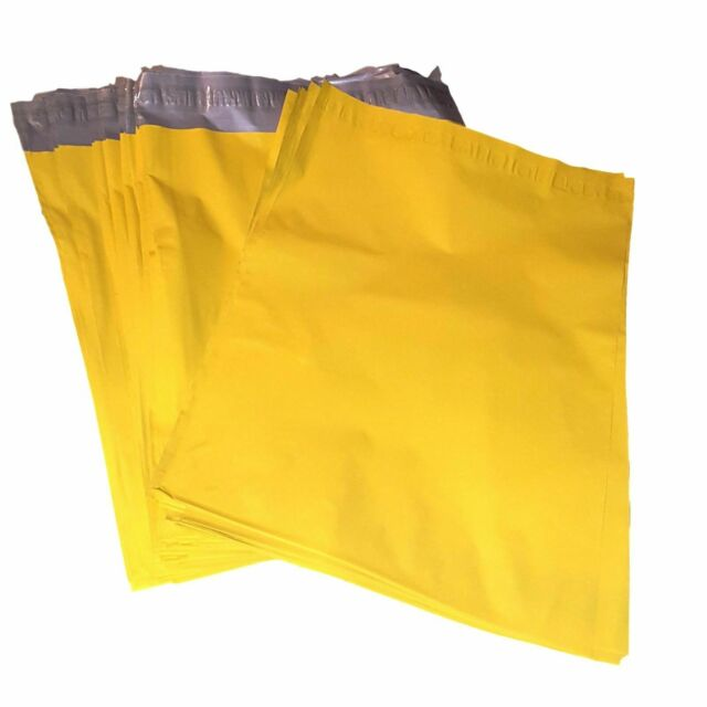 """50 10x13 Yellow Color Designer Poly Mailer Shipping Self Seal Bags 10/"""" x 13/"""""""