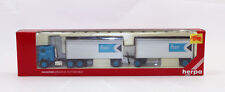 tk Herpa 6030 Freightliner COE w/2 27' trailers & dolly CP Express 1:87 HO