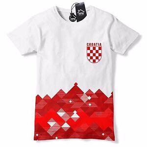 1ab766c0008 Croatia Football Shirt Retro Pattern Hrvatska T Shirt Vintage Modric ...