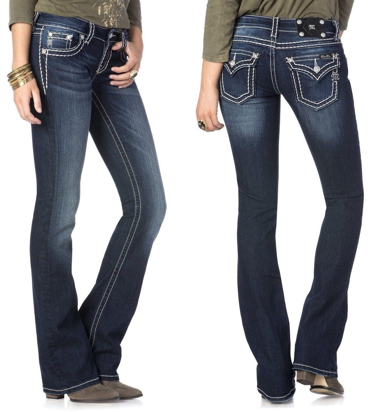 Miss Me Jeans taille 24 en vrac Saddle Stitch frontière démarragecut Poche à rabat bleu