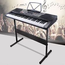 61 Key Music Electronic Keyboard Electric Digital Piano Organ w/Stand Black