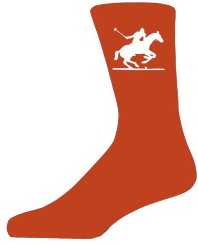 joli cadeau d/'anniversaire Chaussettes orange haute qualité avec un joueur de polo