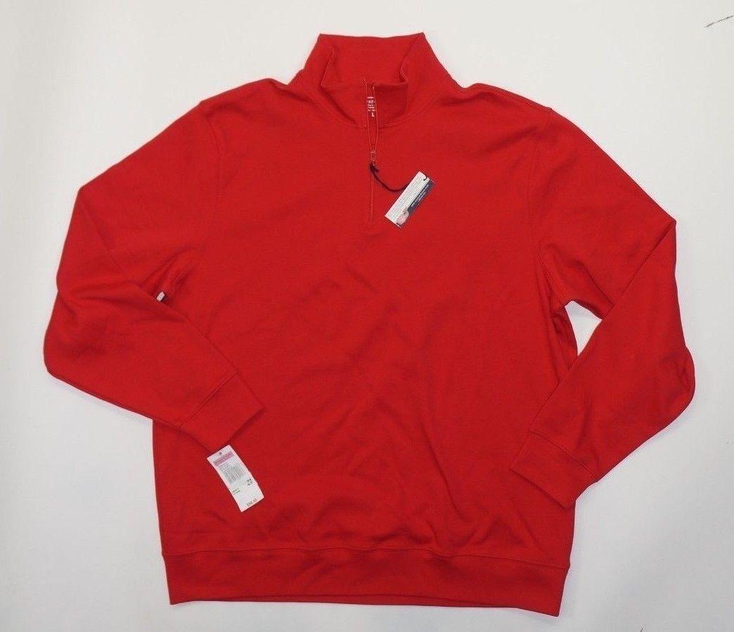 VINEYARD VINES Solid ROT Jersey  Herren 1/4 Zip Pullover Sweatshirt