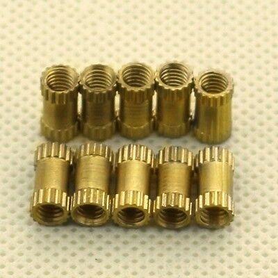Brass Knurl Nuts Metric Threaded Nuts M1.4 M1.6 M2 M2.5 M3 M4 M5 M6