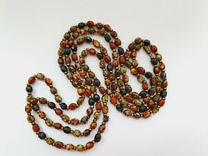 Vintage-55-034-Murano-Glass-Scottish-Moss-Agate-Bead-Necklace-Flapper