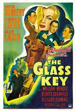 Film Noir: * The Glass Key *  Veronica Lake & Alan Ladd Movie Poster  1942