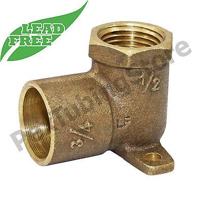 """3//4/"""" FIP x 1//2/"""" FIP x 3//4/""""C Cast Brass Tee LEAD-FREE"""