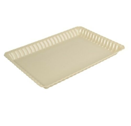 48 9x13 Heavy Duty Disposable Plastic Rectangle Serving Trays High Rim
