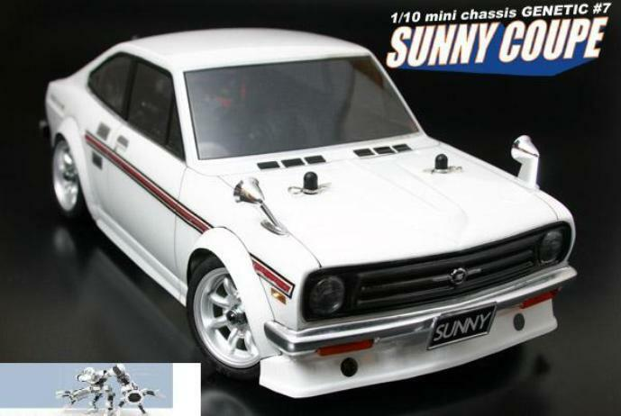 1 12 RC Car Body Shell  ABC HOBBY GENETIC DATSUN 1200 SUNNY COUPE BODY SHELL