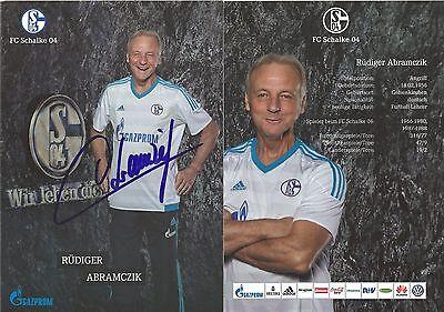 Borussia Dortmund Autogramm AK Rüdiger Abramczik FC Schalke 04 FC Nürnberg 1