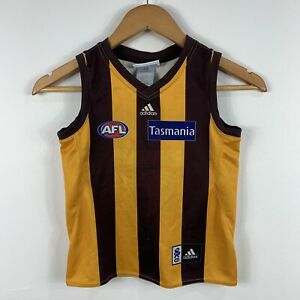 Hawthorn-AFL-Jersey-Youth-Size-5-Years-Hawks-Signed-By-Brad-Sewell-12-Adidas