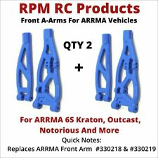 QTY 2 BLUE *NEW* - RPM 81485 Front Upper /& Lower A-Arms ARRMA Kraton Outcast