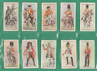 MILITARY - JOHN PLAYER & SONS - SET  OF  50  REGIMENTAL  UNIFORMS  CARDS - 1912