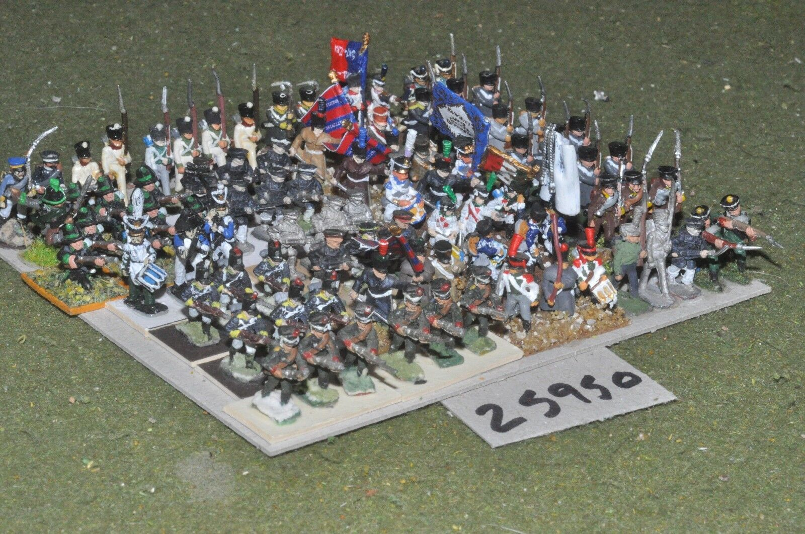 15mm napoleonic   generic - mixed painted & unpainted 90 figures - inf (25950)