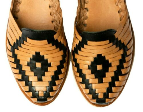 Black//Tan Closed Toe #LMS924 SIDREY Women/'s Mexican Huaraches Sandals