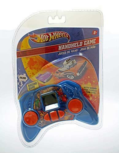 Hot Wheels Retro Handheld jeu de course avec son dans Bleu clair