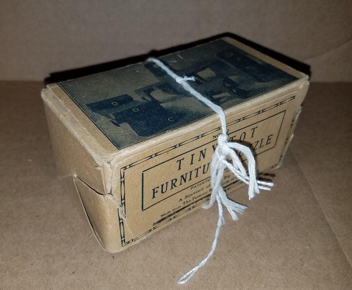 Vtg Tiny Tot Furniture Puzzle No.12 Manufacturer NV Winter Patent 1927