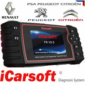 Peugeot Renault iCarsoft FR V2.0 Diagnosegerät für Citroen Dacia  OBD2