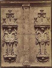Cathédrale de Laon Fragment de Clôture France Vintage albumine ca 1880
