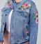 floral Embroidered denim jacket size 28 Lane Bryant beautiful Fast Lane Rose