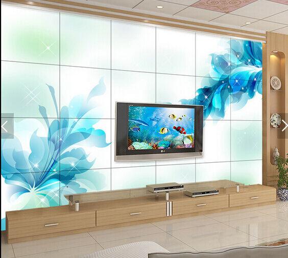 3D Blaue KristallBlaumen 35 Fototapeten Wandbild Fototapete BildTapete Familie DE
