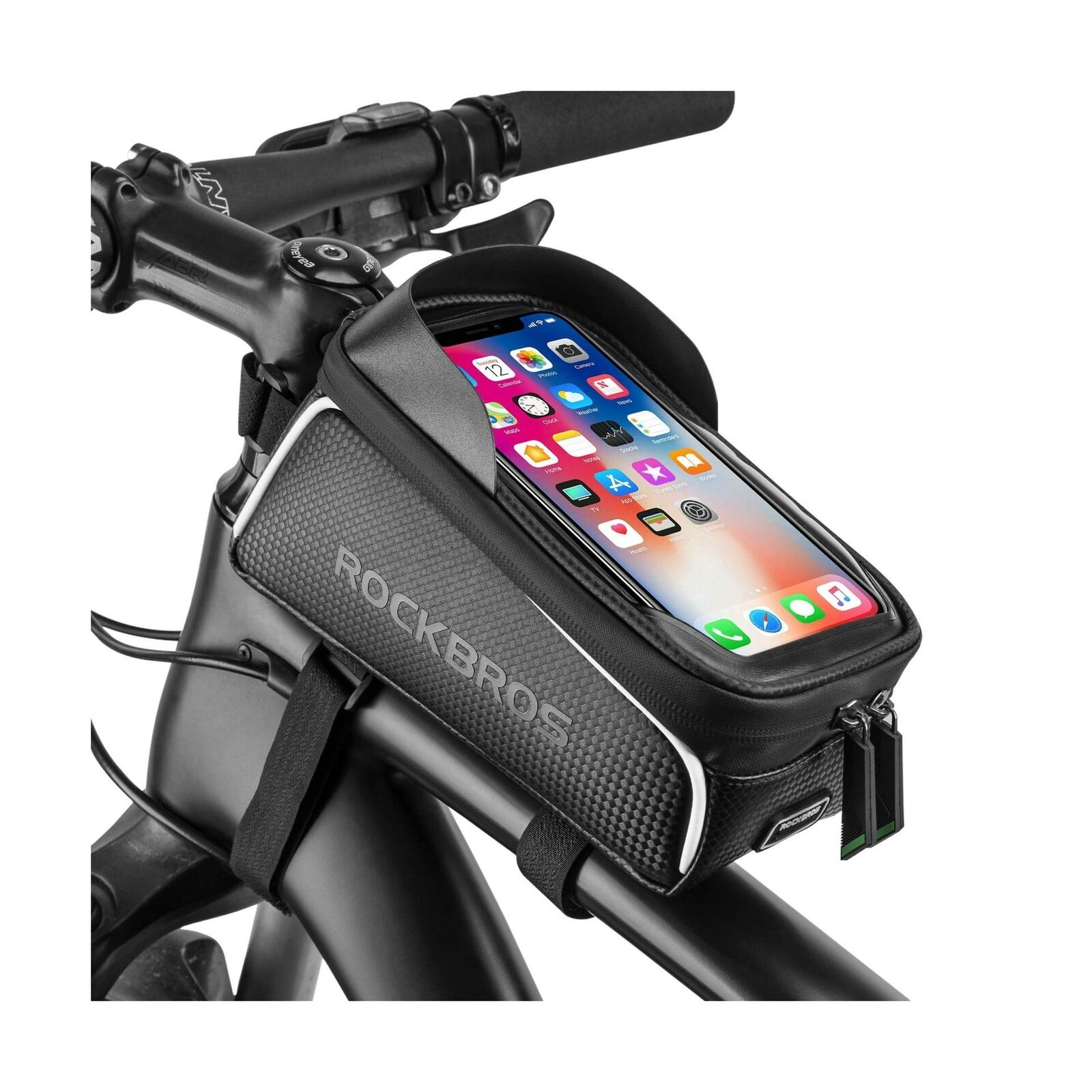 Wheel Up Bicycle Bike Frame Pannier Front Tube Bag Mobile Phone Pouch Travel