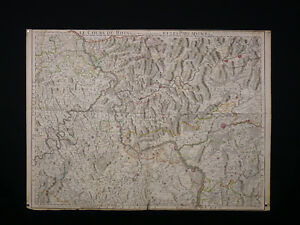 Guillaume-Delisle-1675-1726-the-Course-of-Rhine-Antique-Card-Geographical-1704
