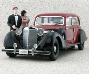 MB Mercedes Benz 770K - 1938 - red / black - Signature Models 1:18