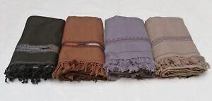 Afghane-PATOO-Handmade-sawati-Laine-Solide-pachtoune-chale-echarpe-Wrap-Homme-Femme