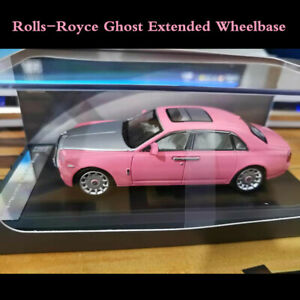 Scale-1-64-Pink-Rolls-Royce-Ghost-Extended-Wheelbase-Car-Model-New-In-Box