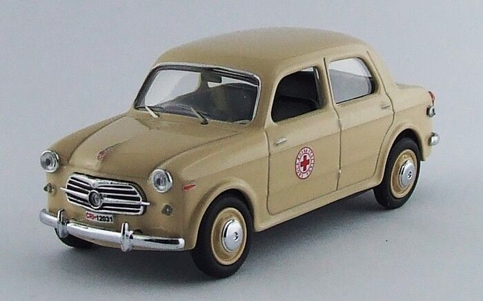 Rio 4468-fiat 1100  103 italian rouge cross - 1956 1 43  marque célèbre