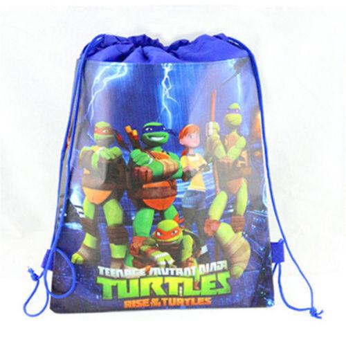 Teenage Mutant Ninja Turtles Kids Backpack Environmental toy Drawstring bag E
