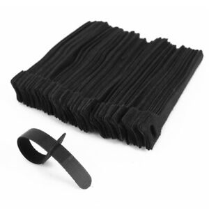 1X-100-x-attache-cable-en-nylon-noir-reglable-L-15cm-Q7G9-f5