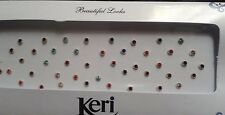 Indian Sticker Crystal Silver Diamante Bridal Head Bindi Tikka Tatto Gem Quality
