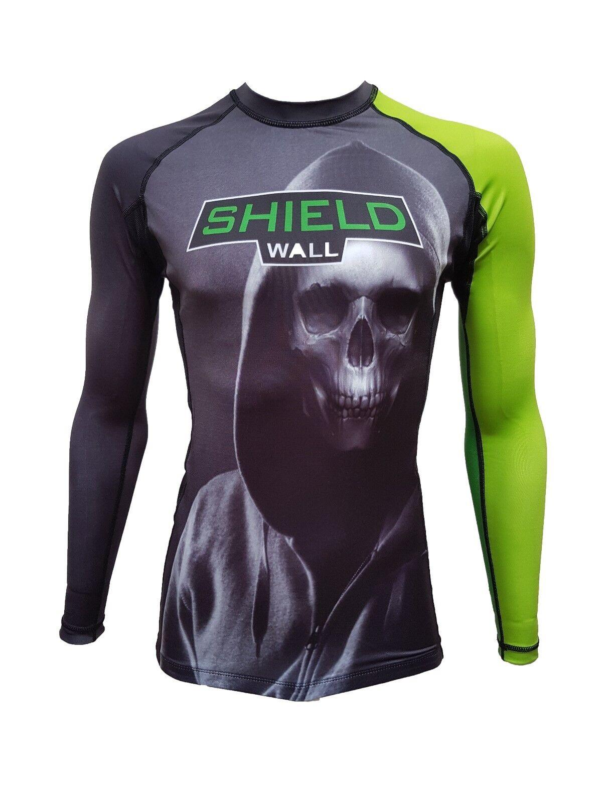 ShieldWall Rashguard Rashvest Mens Womens MMA BJJ - Skull Hoodie