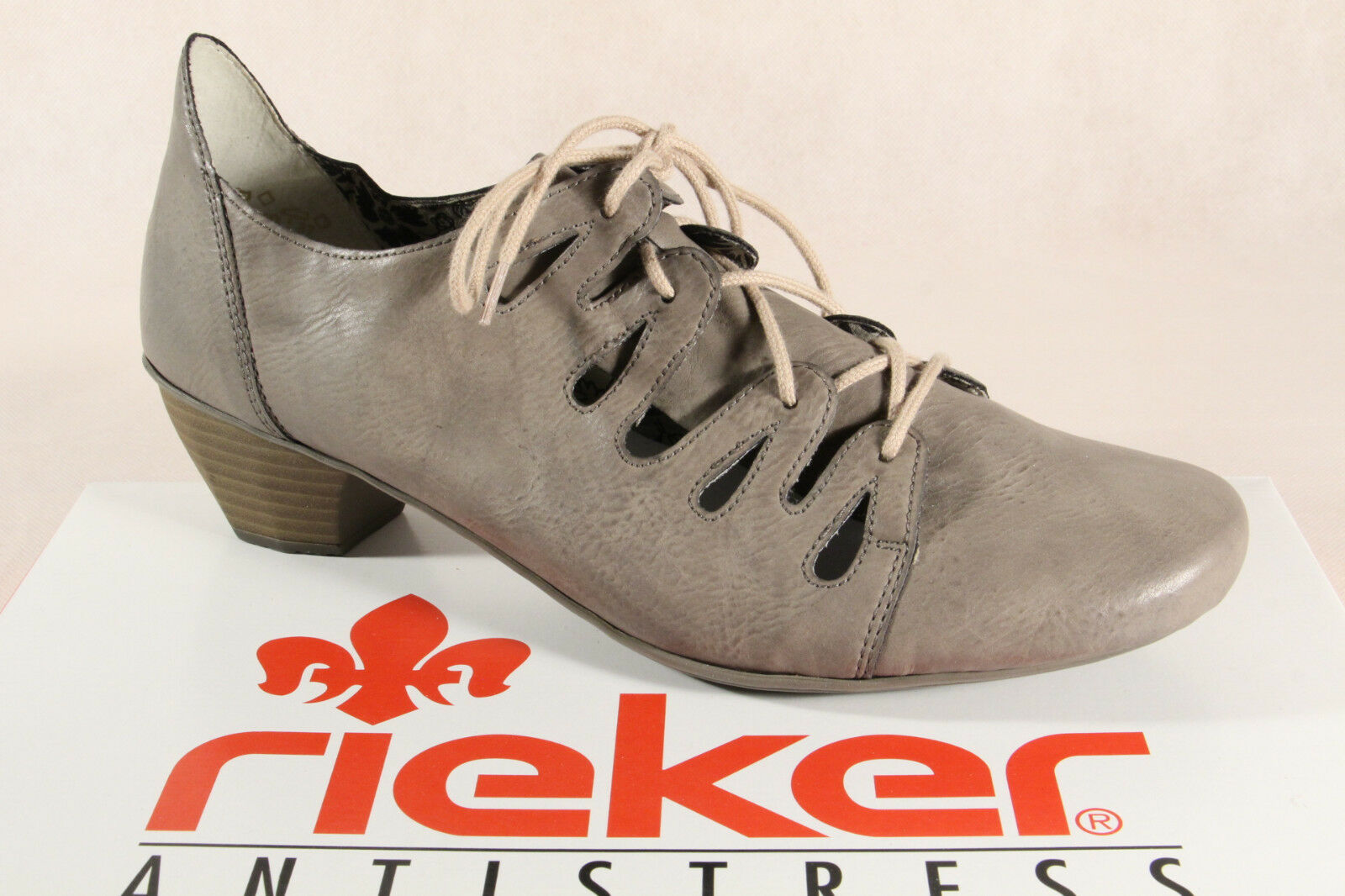 Rieker Ladies Lace-Up shoes, Slippers, Casual shoes, Court shoes Grey New