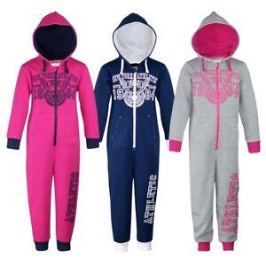 883563004089f9 Details about Kinder Fleece Overall Mädchen Jogger Schlafanzug Hausanzug  Pyjama Einteiler